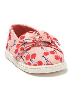 Toms Cherry Bow Alpargata Slip-On Sneaker (Baby & Toddler)