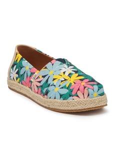 Toms Floral Alpargata Slip-On Sneaker (Little Kid & Big Kid)