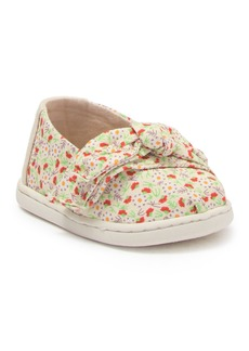 Toms Floral Bow Slip-On Sneaker (Baby & Toddler)