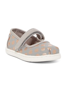 Toms Foil Dot Mary Jane Flat (Baby & Toddler)