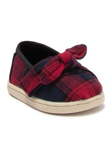 Toms Plaid Bow Slip-On Sneaker (Baby & Toddler)