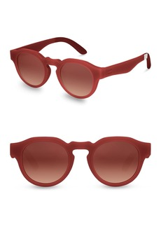 TOMS Shoes 47mm Bryton Round Sunglasses