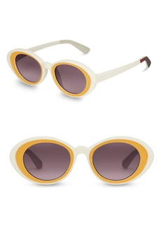 TOMS Shoes 48mm Rossio Round Sunglasses
