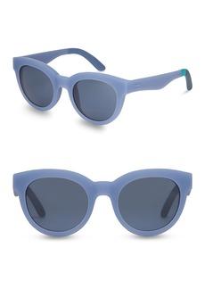 TOMS Shoes 52mm Florentin Round Sunglasses