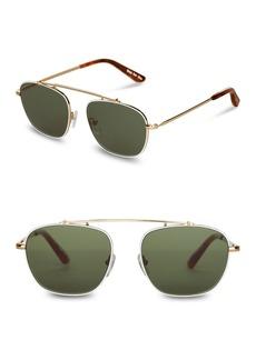 TOMS Shoes 52mm Riley Satin Aviator Sunglasses
