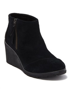 TOMS Shoes Avery Suede Wedge Bootie