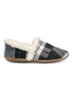 TOMS Shoes Black and White Plaid Women's House Slippers
