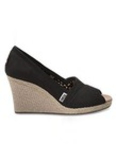 Black Canvas Women's Wedges