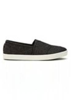 TOMS Shoes Black Chambray Men's Avalon Slip-Ons