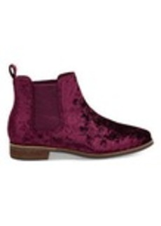 TOMS Shoes Black Cherry Velvet Women's Ella Booties