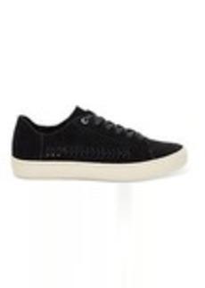 Black Deconstructed Suede Women's Lenox Sneakers