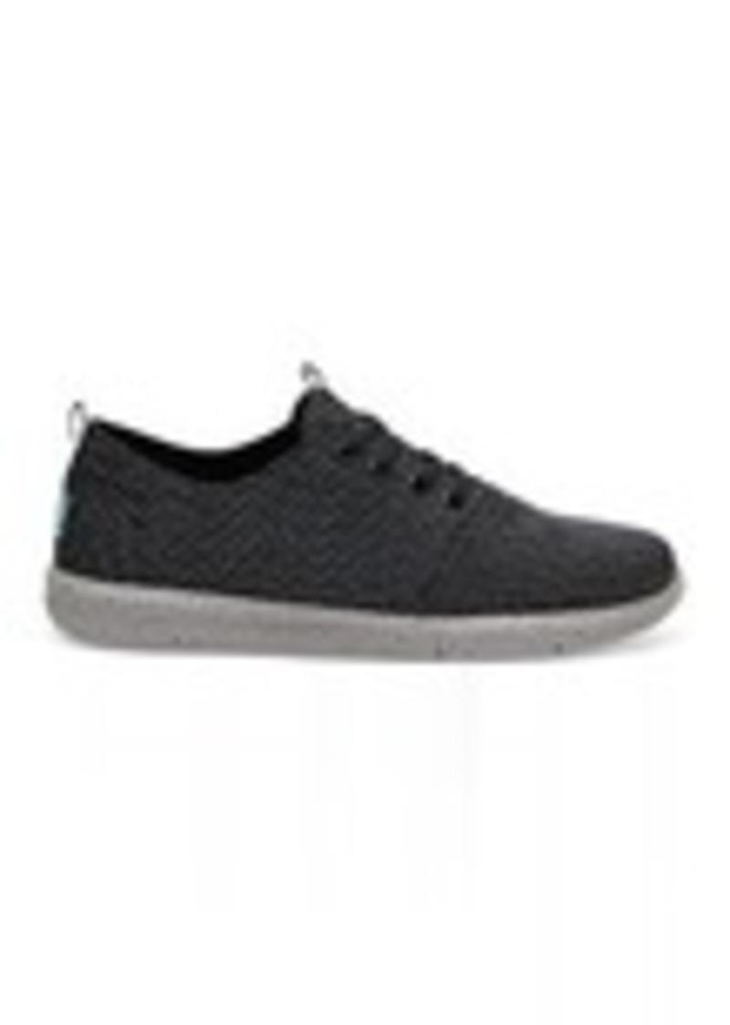 13ba1866b23 TOMS Shoes Black Grey Yarn-Dye Men s Del Rey Sneakers