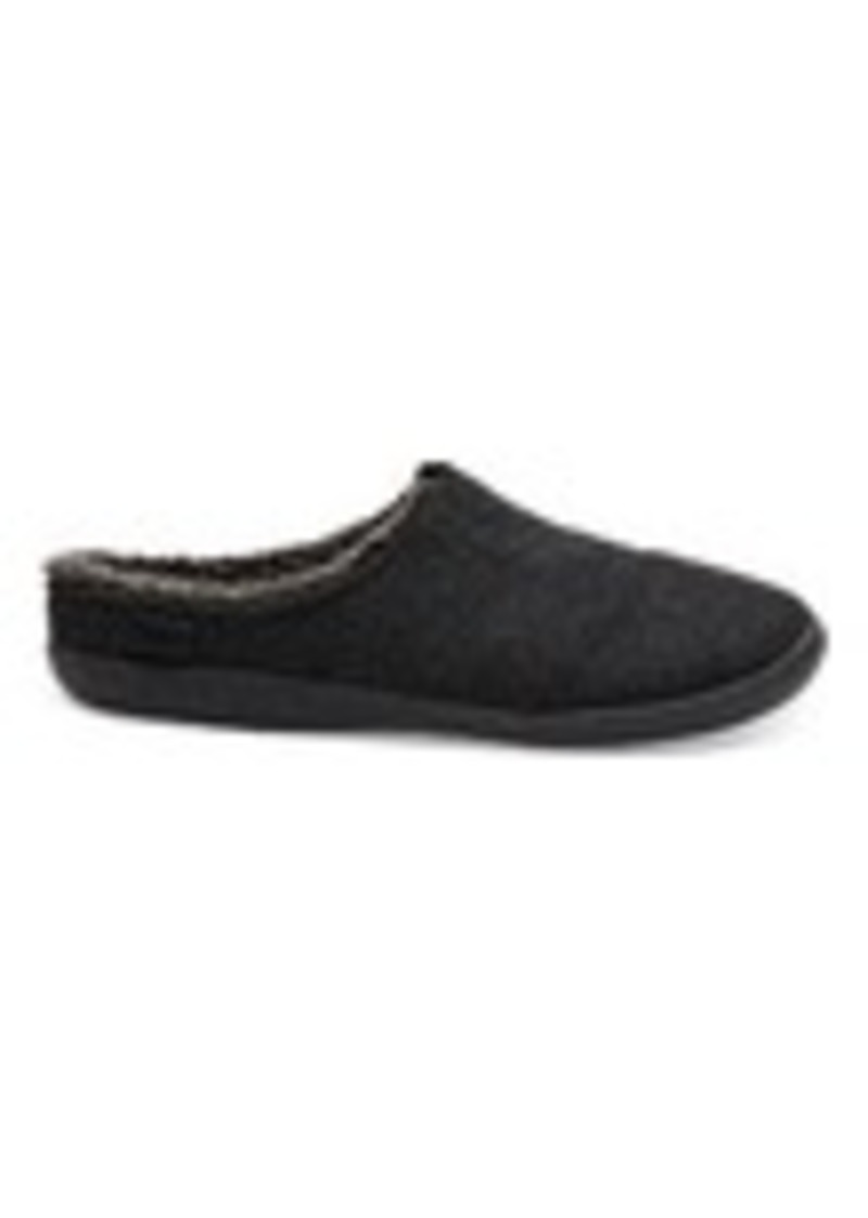 0fb6e699bda TOMS Shoes Black Herringbone Woolen Men s Berkeley Slippers