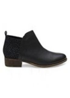 Black Leather Suede Women's Deia Booties
