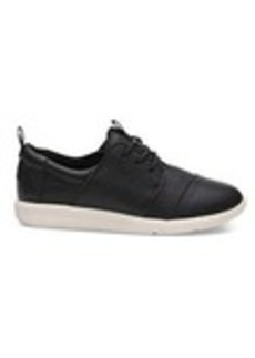 Black Leather Women's Del Rey Sneakers