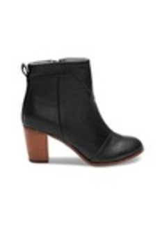 Black Leather Women's Lunata Booties