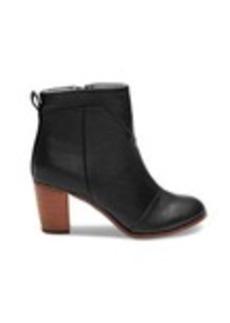 Black Leather Women's Lunata Booties