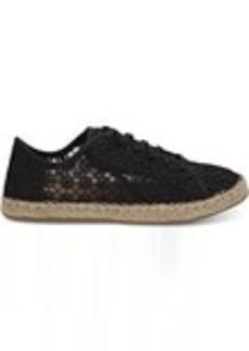 Black Mosaic Mesh Women's Lena Espadrille Sneakers