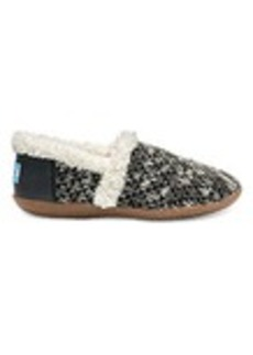 TOMS Shoes Black Sparkle Knit Women's House Slippers
