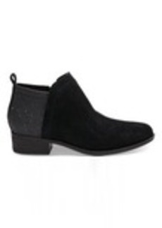 Black Suede and Glimmer Women's Deia Booties