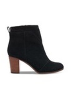 Black Suede Perforated Women's Lunata Booties