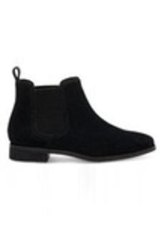 TOMS Shoes Black Suede Women's Ella Booties