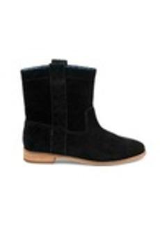 TOMS Shoes Black Suede Women's Laurel Boots