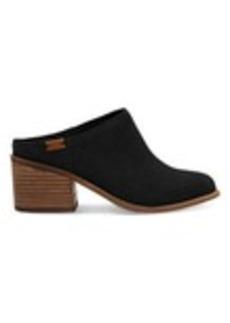 TOMS Shoes Black Suede Women's Leila Mules
