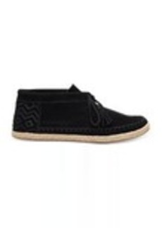TOMS Shoes Black Suede Women's Palmera Chukka Booties