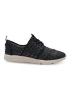 Black Textured Glitter Women's Del Rey Sneakers