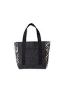 TOMS Shoes Black Tiki Canvas Avenue Tote