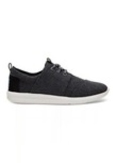Black Washed Canvas Women's Del Rey Sneakers