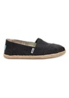 Black Washed Canvas Women's Espadrilles