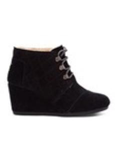 TOMS Shoes Black Water Resistant Suede Women's Desert Wedges