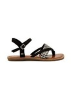 Black White Woven Women's Lexie Sandals