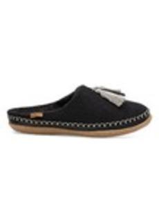 Black Wool Tassel Women's Ivy Slippers
