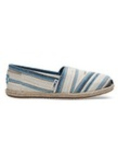 Blue Aster Woven Stripe Women's Espadrilles
