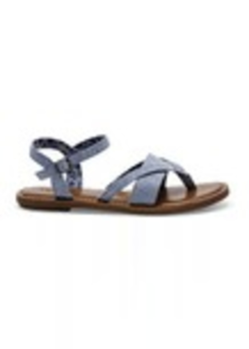 d8b9ab83659 On Sale today! TOMS Shoes Blue Chambray Women s Lexie Sandals