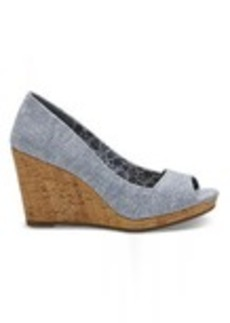 Blue Chambray Women's Stella Wedges