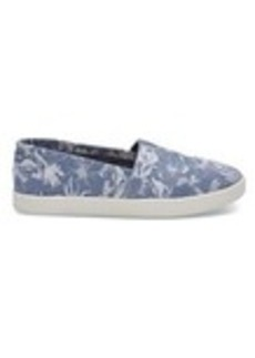 Blue Floral Suede Women's Avalons