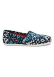 Blue Multi Blanket Print Canvas Women's Classics
