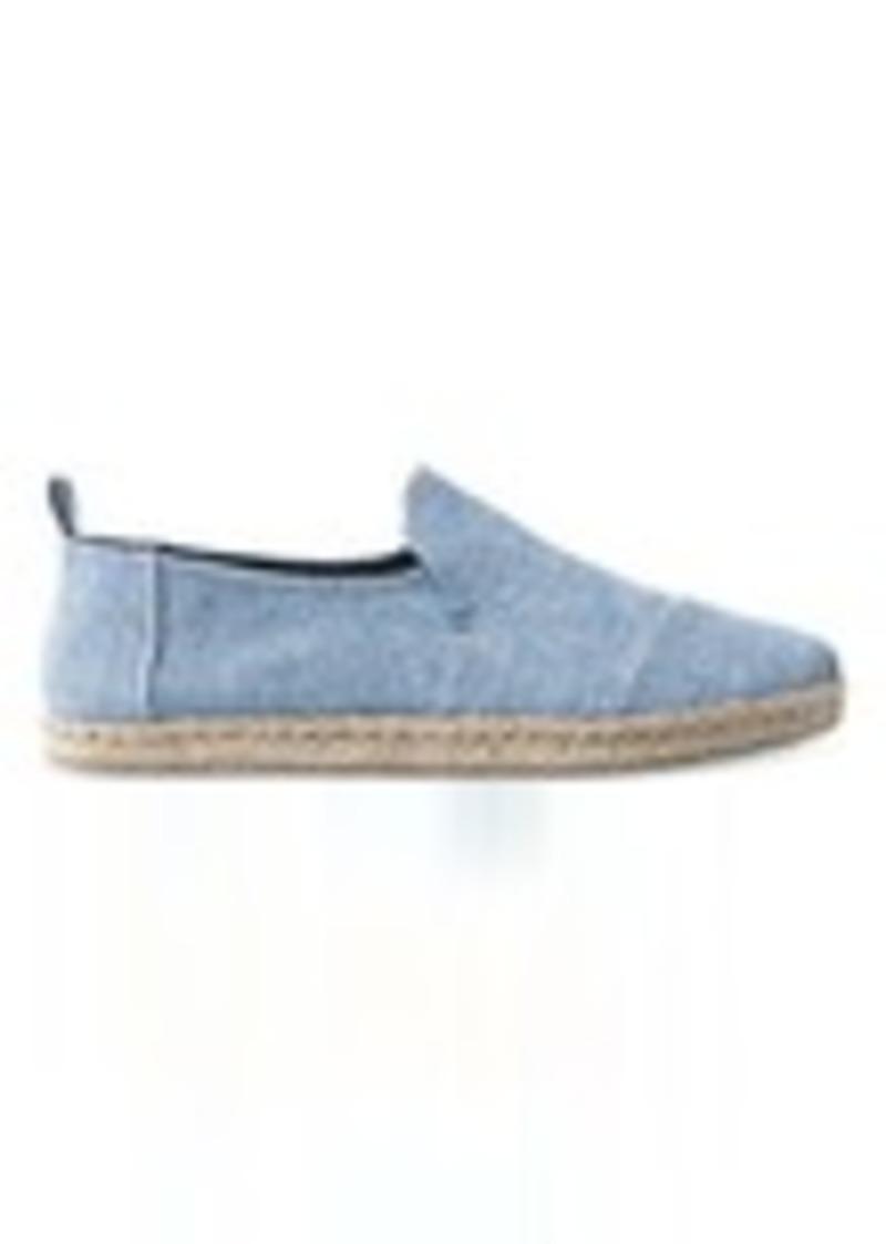 3eb9b01da7 TOMS Shoes Blue Slub Chambray Men's Deconstructed Alpargatas | Shoes