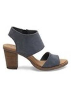 TOMS Shoes Bluestone Leather Women's Majorca Cutout Sandals
