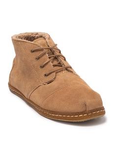 TOMS Shoes Bota Faux Shearling Suede Chukka Boot