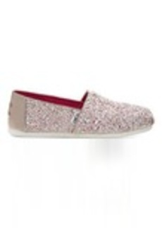 TOMS Shoes Candy Cane Glitter Party Women's Classics