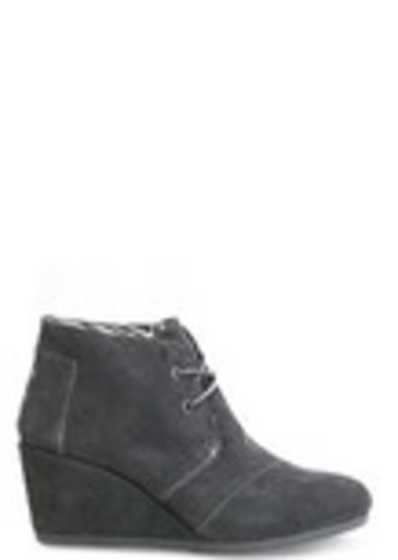 TOMS Shoes Castlerock Grey Suede Women's Desert Wedges