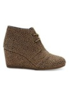 TOMS Shoes Cheetah Suede Women's Desert Wedges