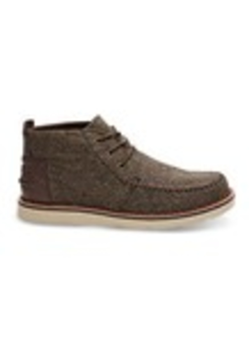 9b43b14c7ed TOMS Shoes Chocolate Brown Brushed Wool Men s Chukka Boots