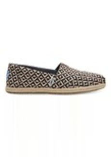 Chocolate Brown Diamond Geo Women's Espadrilles