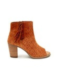 Cinnamon Suede Perforated with Fringe Women's Maj...